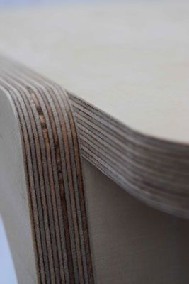 CNC routed plywood edges