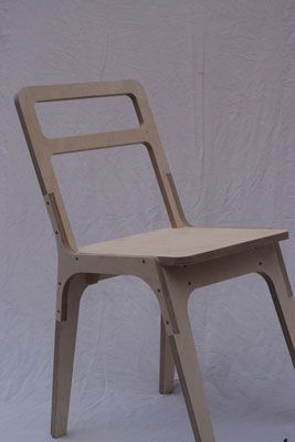 CNC routed plywood chair